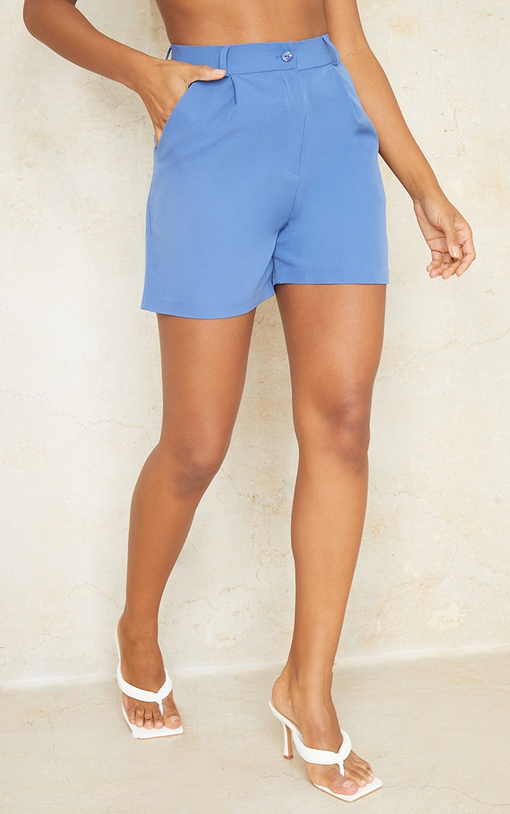 Dusty Blue Woven Tailored Runner Shorts 2