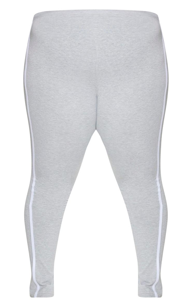 Plus Grey Side Stripe Split Hem Pants 5
