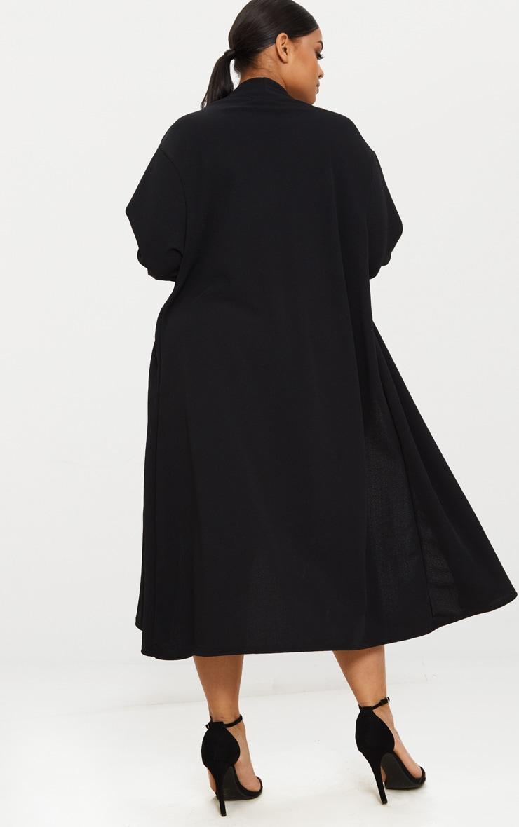 PLT Plus- Veste longue en crêpe noir 2