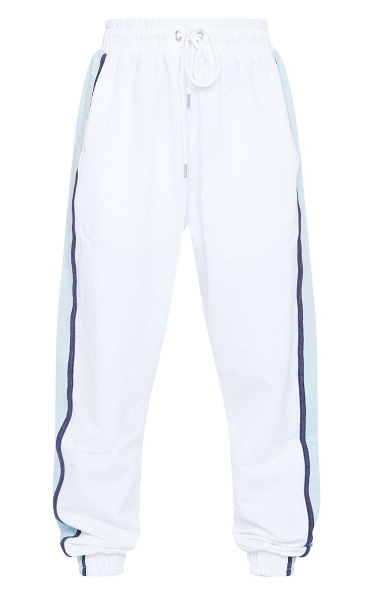 White Multi Side Stripe Joggers 5