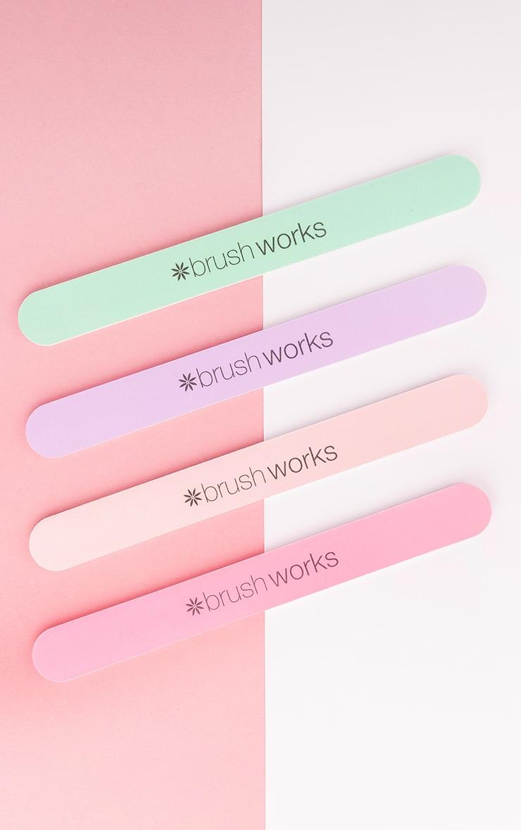 Brushworks Pastel Coloured Nail Files 4 Pack 1