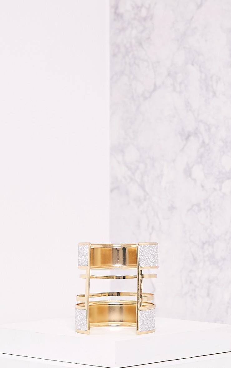 Gabi Gold Glitter Detail Bangle 5