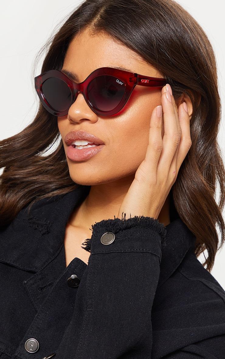 QUAY AUSTRALIA Red Goodnight Kiss Sunglasses | Quay