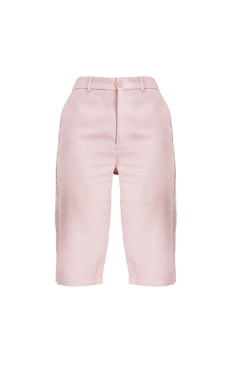 Pale Lilac Woven Suit Longline Shorts 5