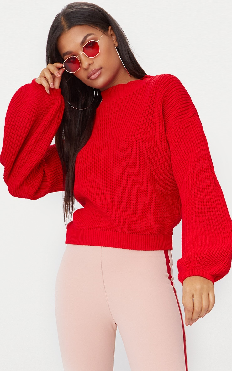 Red Balloon Sleeve Jumper 1