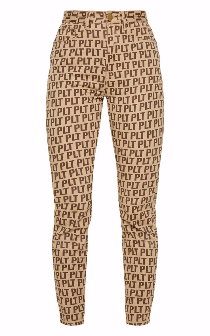 PRETTYLITTLETHING Brown Straight Leg Jean  3
