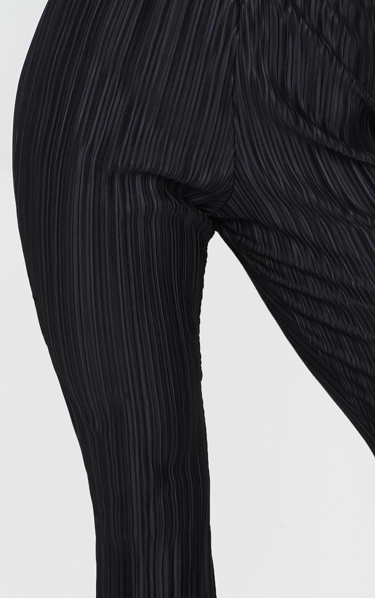 Black Plisse Flared Pants 4