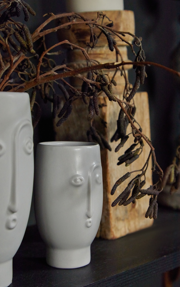 Grey Mini Face Vase 1