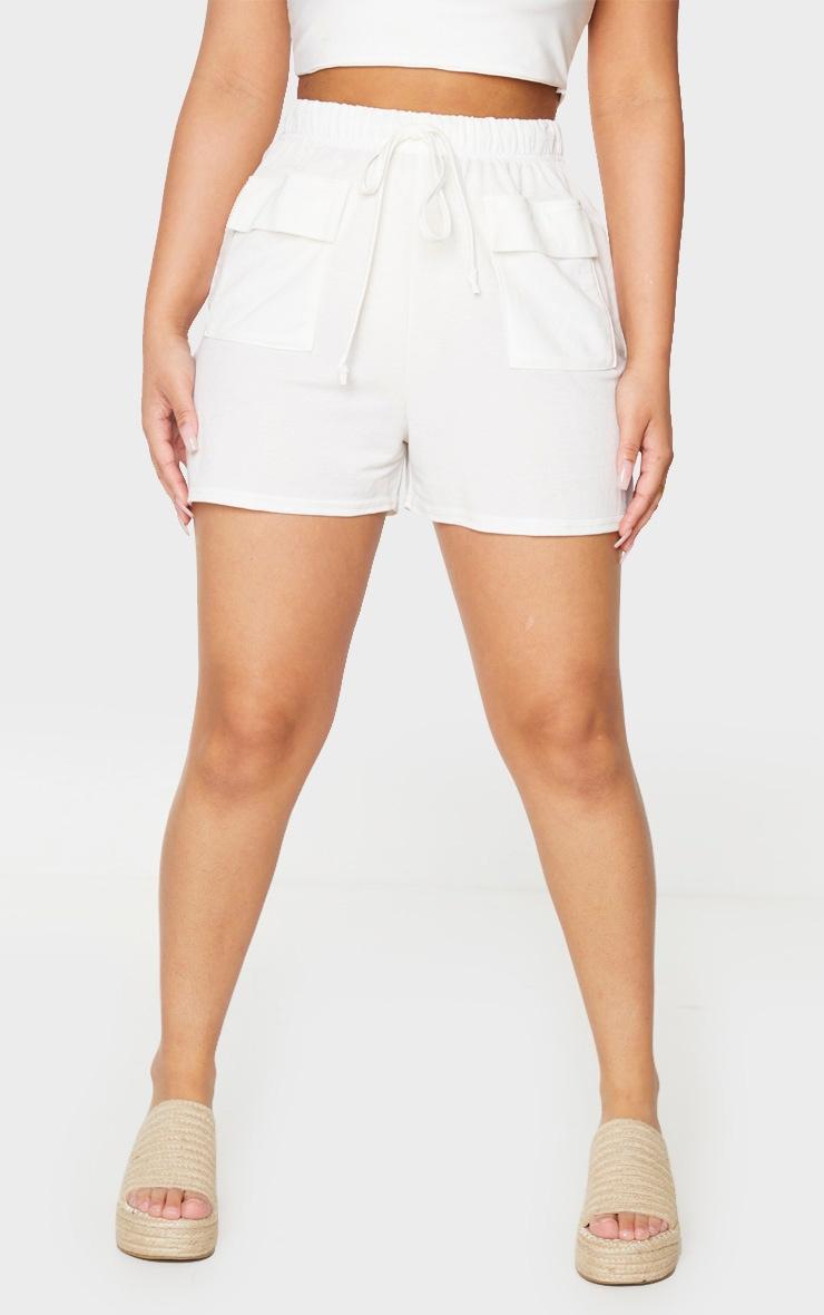 Petite Cream Cargo Shorts 2
