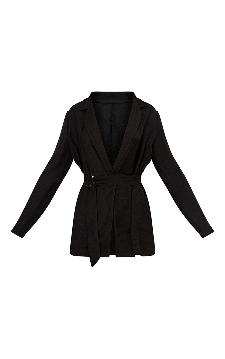 Romilly Black Belted D Ring Detail Blazer 3
