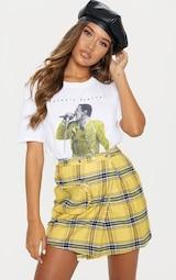 Yellow Check 3D Pocket Detail Tennis Skirt 1