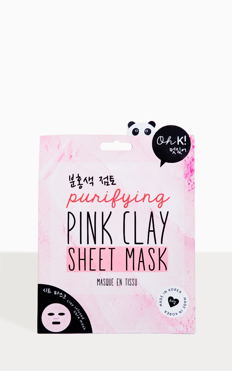 Oh K! Pink Clay Sheet Mask  2