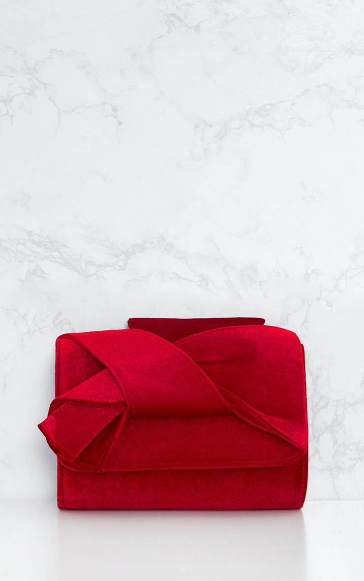 Red Velvet Bow Bag 3