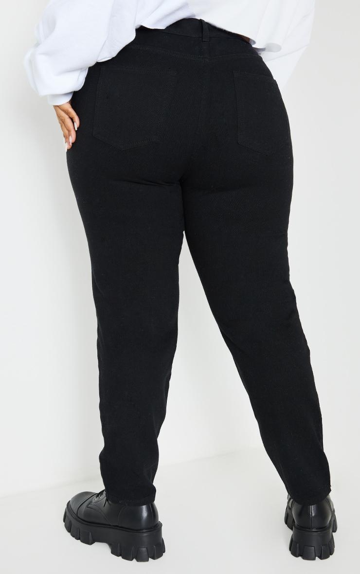 Plus Black Basic Straight Leg Jeans 3