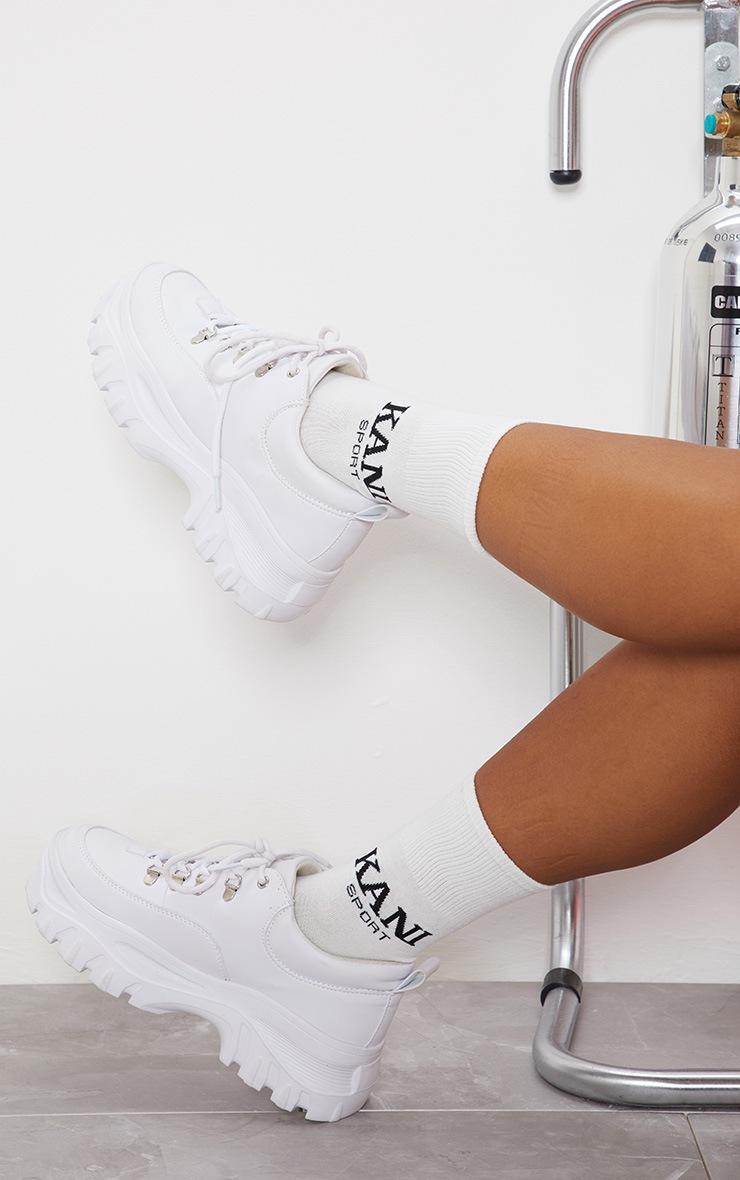 KARL KANI White Sport Socks 3