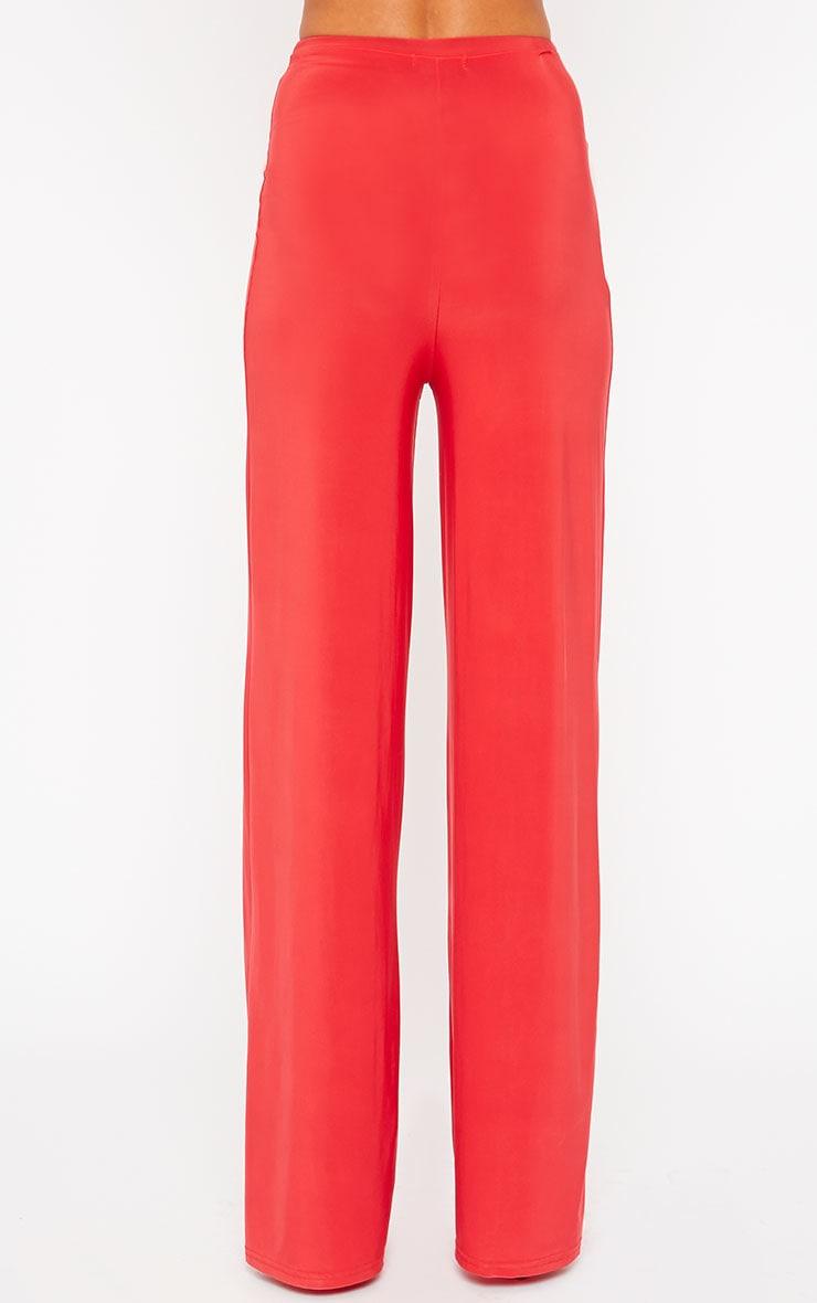 Zafia Red Palazzo Trousers 5