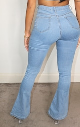 Shape Light Blue Wash High Waist Skinny Flared Jean 3
