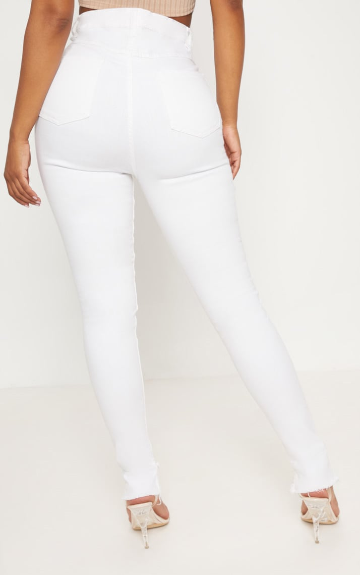 Shape White High Waist Skinny Jeans 4