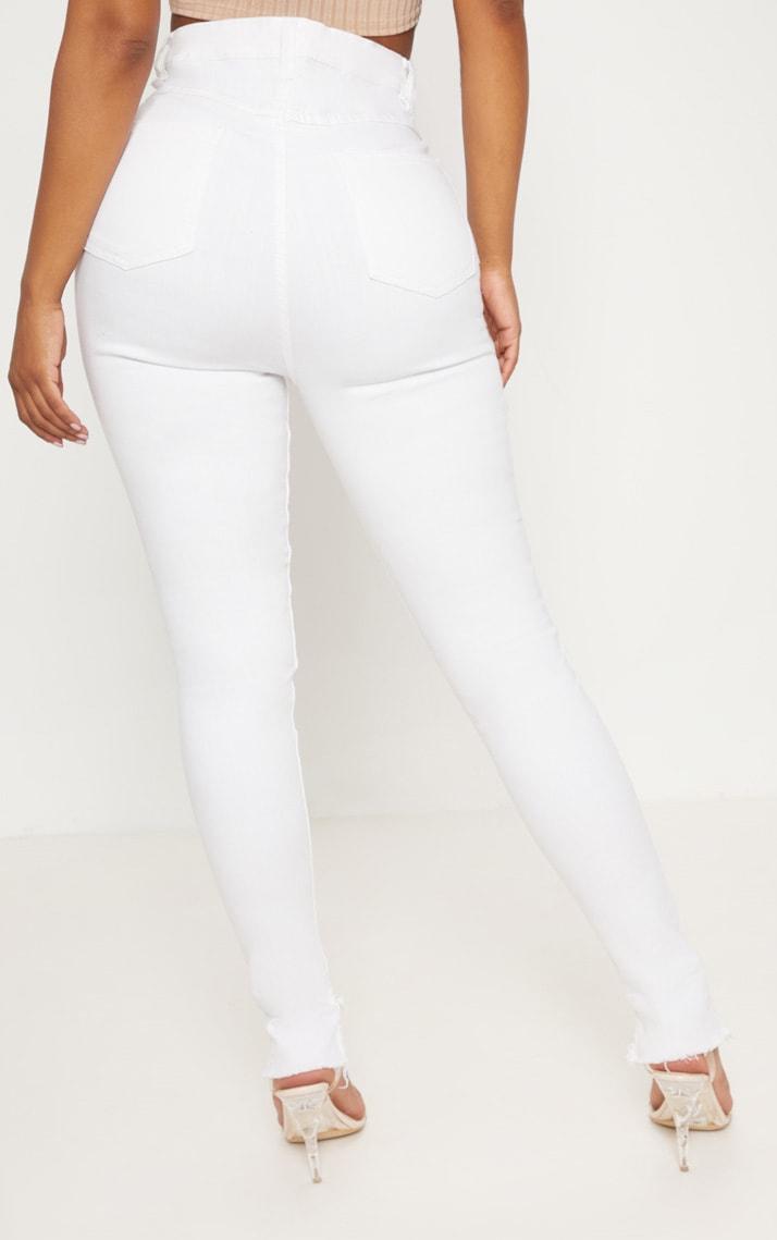 Shape- Jean skinny blanc taille haute 4