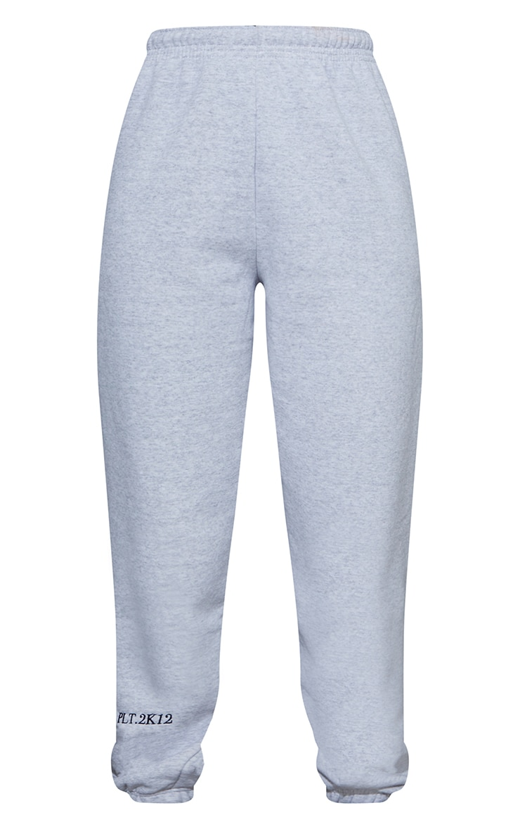 PRETTYLITTLETHING Ash Grey Cuff Detail Casual Joggers 5
