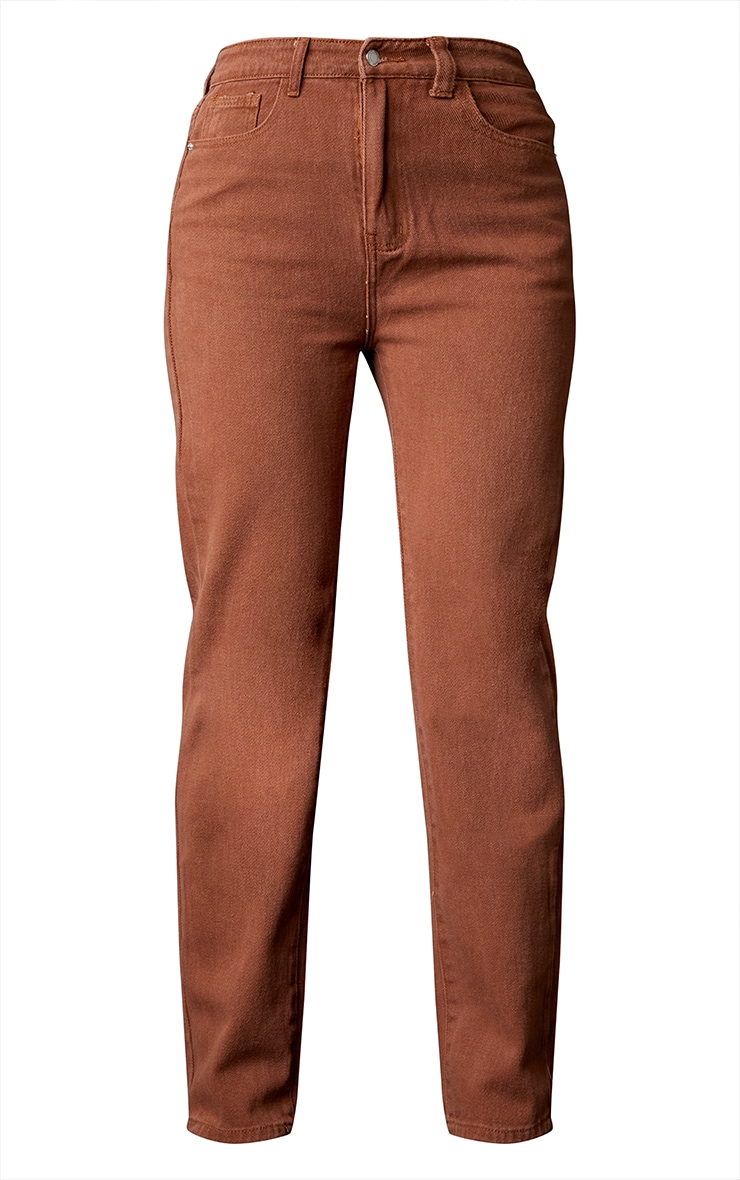 Chocolate Long Leg Straight Jeans 5