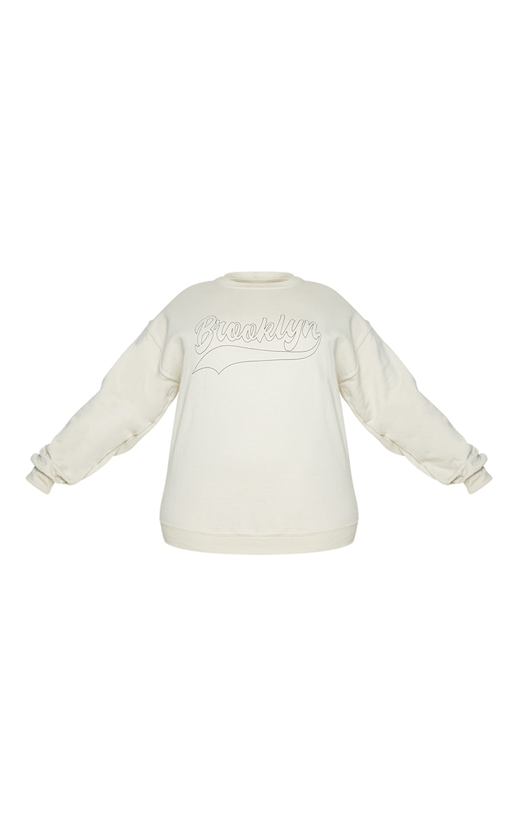 Plus Stone Brooklyn Slogan Sweatshirt 5