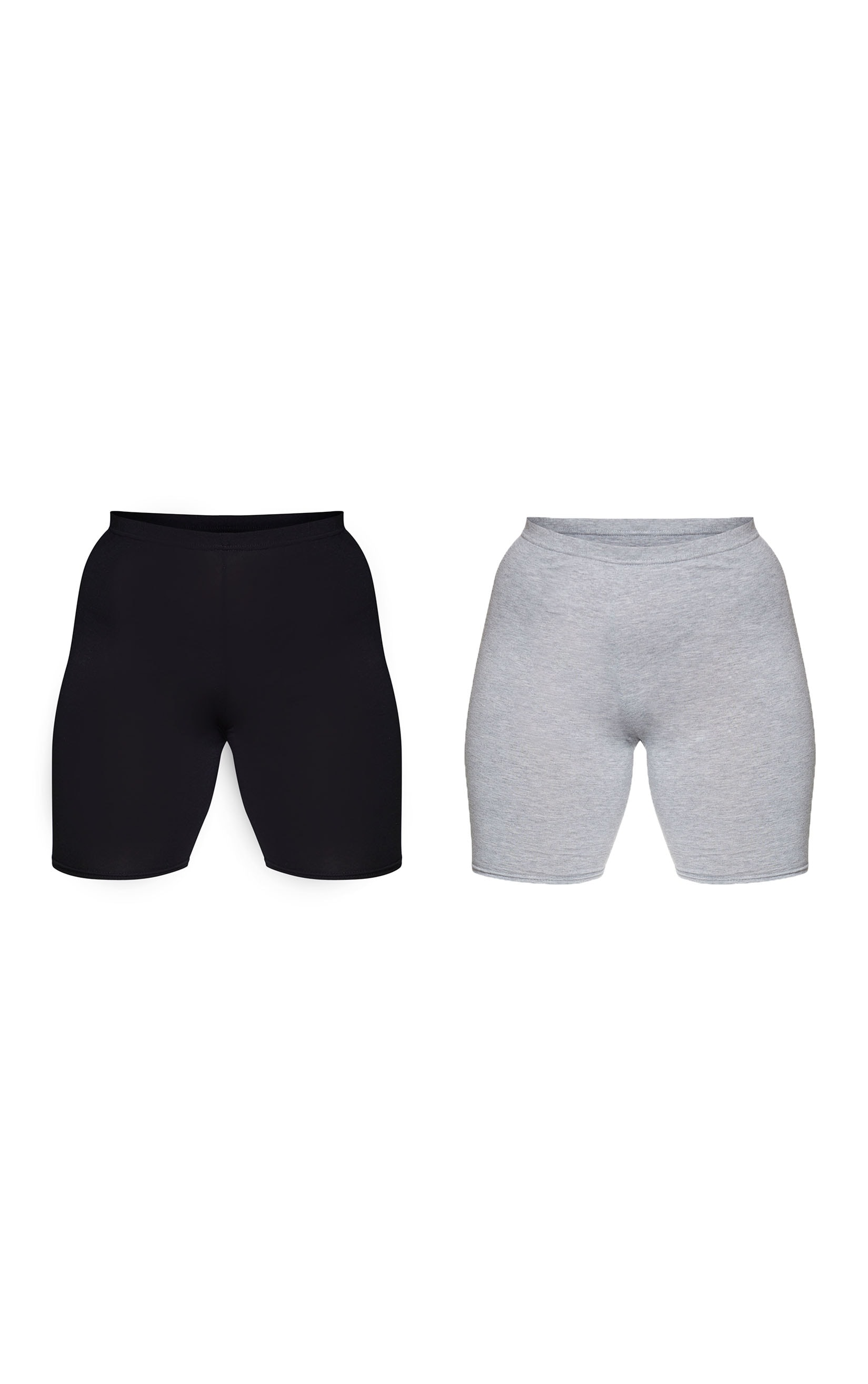 Plus Black and Grey Basic Bike Shorts 2 Pack 6