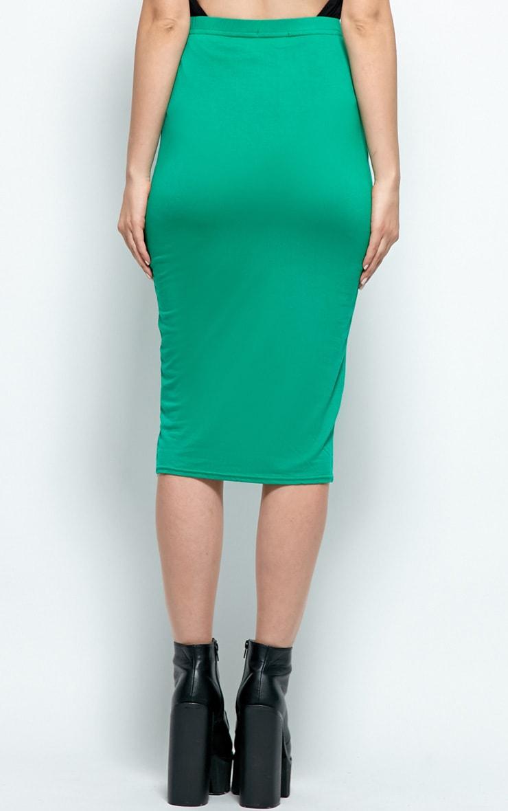 Candice Orange Jersey Midi Skirt 1