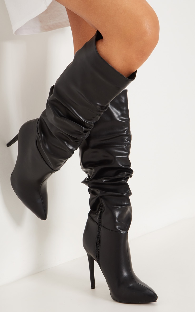 Black Slouch High Point Knee Boot  2