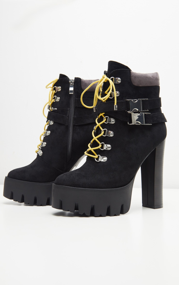 Black Hiker Platform Ankle Boot  3