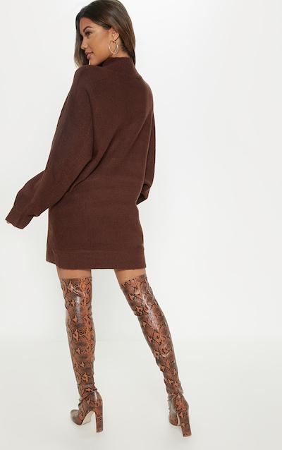 Chocolate Oversized Jumper Dress