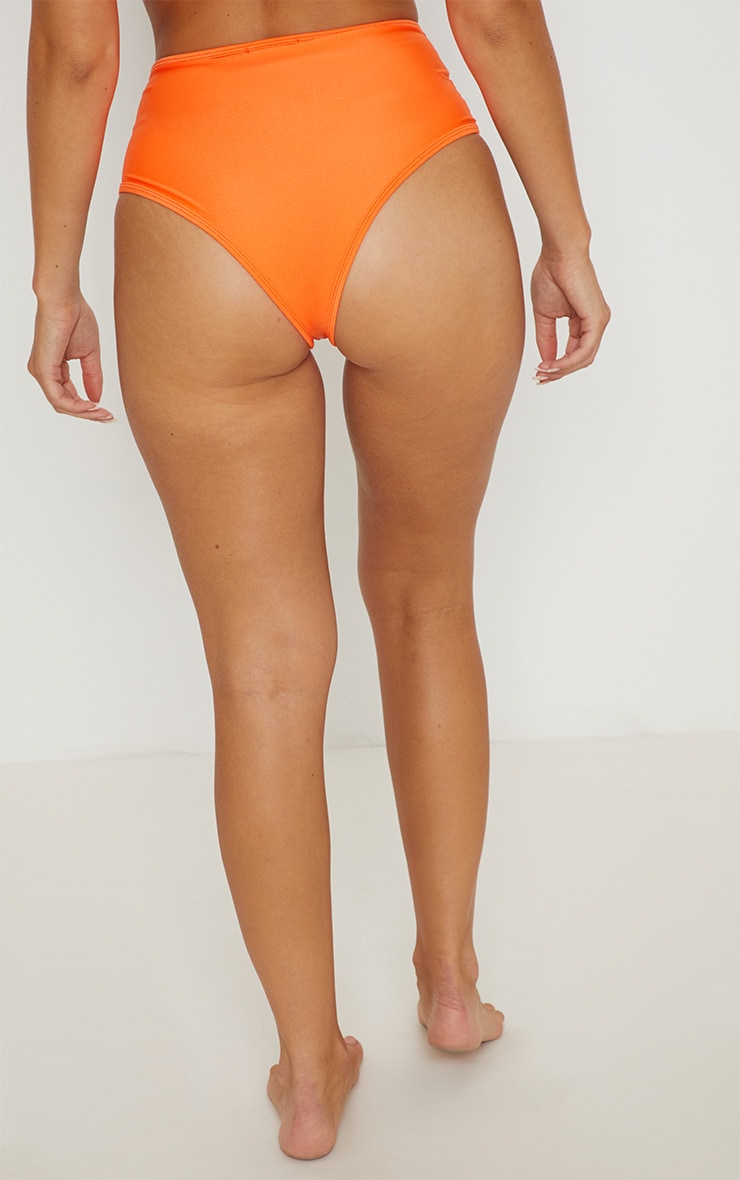 Orange Mix & Match High Waisted Bikini Bottom 4