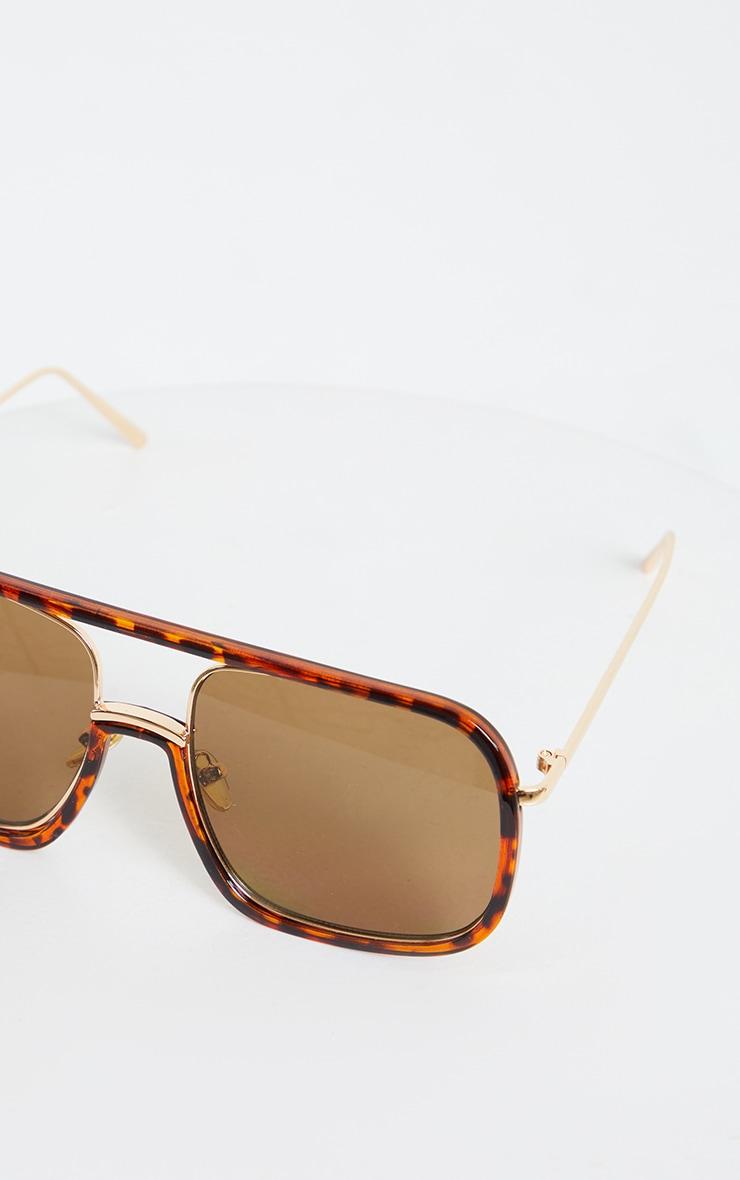 Tortouise Shell Flat Top Sunglasses 3