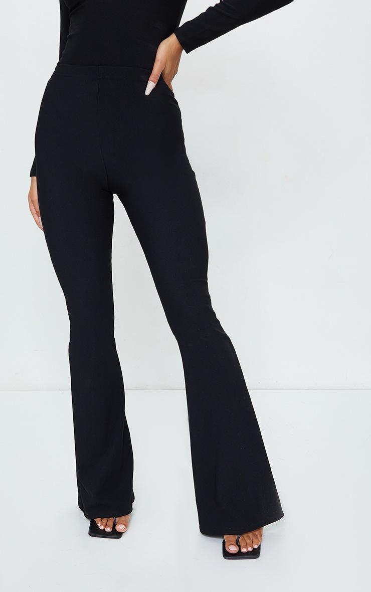 Black Bandage High Waist Flared Trousers 2