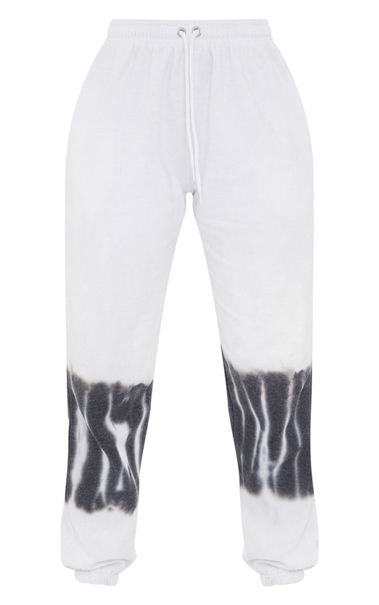 White Tie Dye Knee Joggers 5