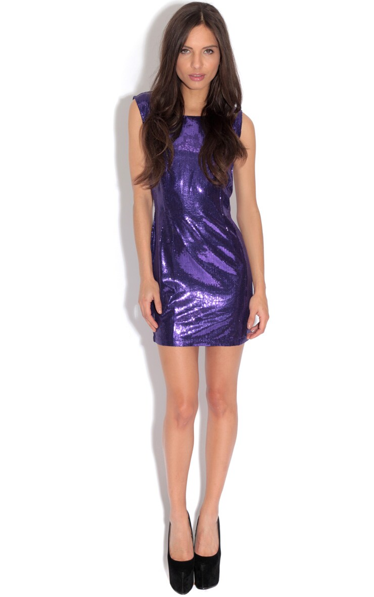 Ingrid Purple Sequin Dress 3