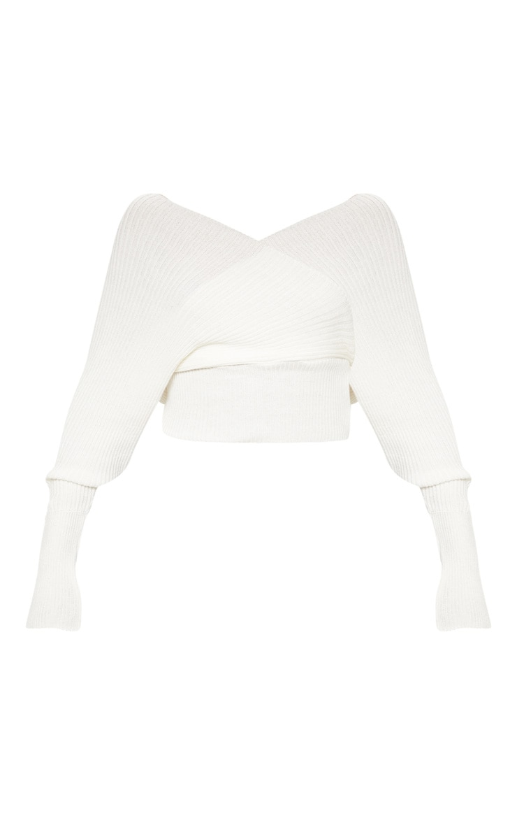 Ivory Wrap Off The Shoulder Jumper 3