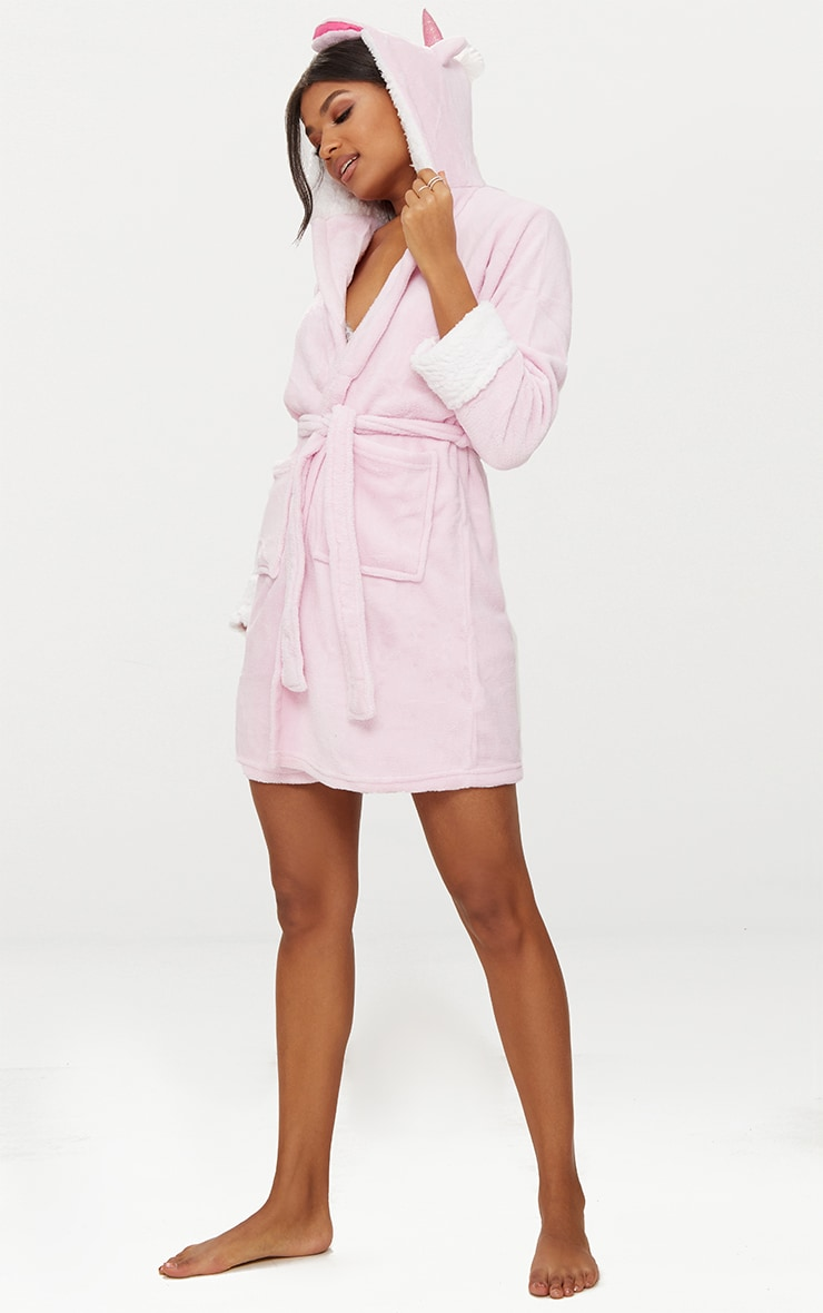 Pink Unicorn Dressing Gown 2