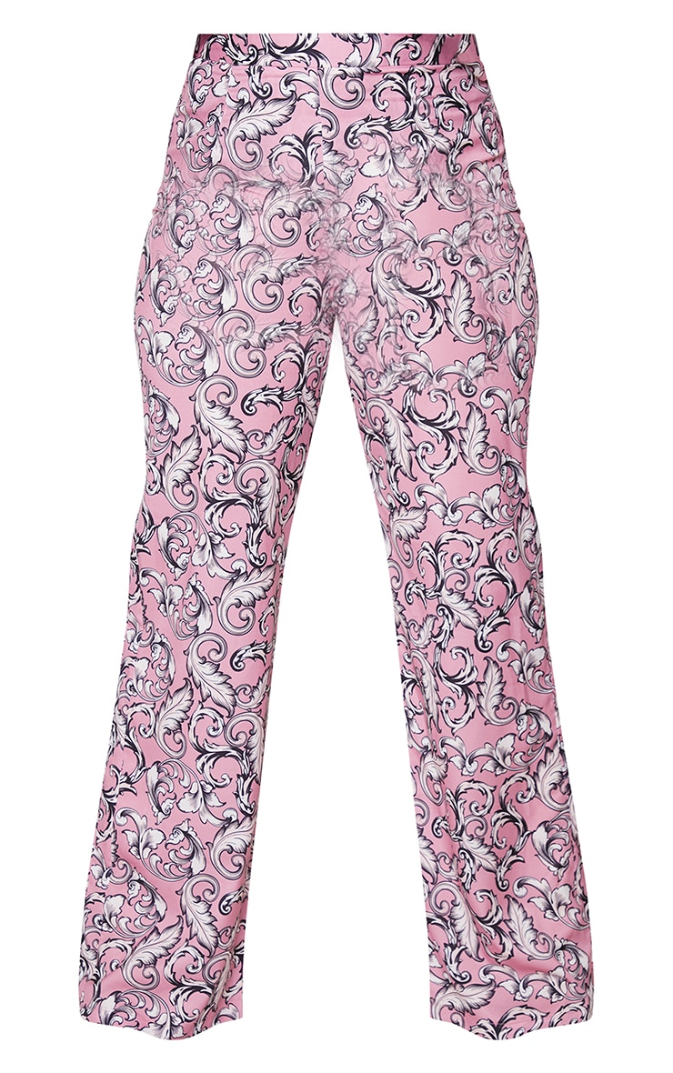 Plus Blush Baroque Printed Wide Leg Pants 5
