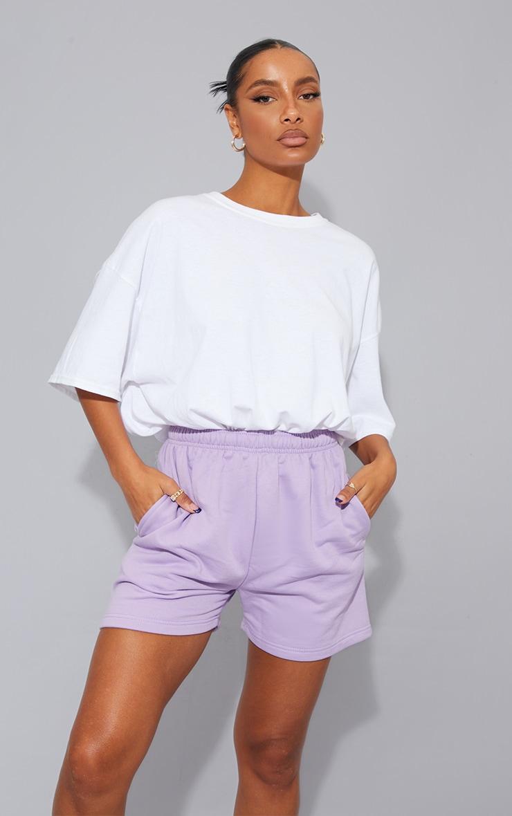 Lilac Sweat Pocket Shorts 4