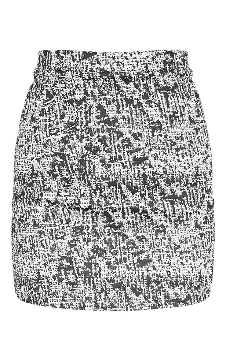 Monochrome Boucle Skirt 4
