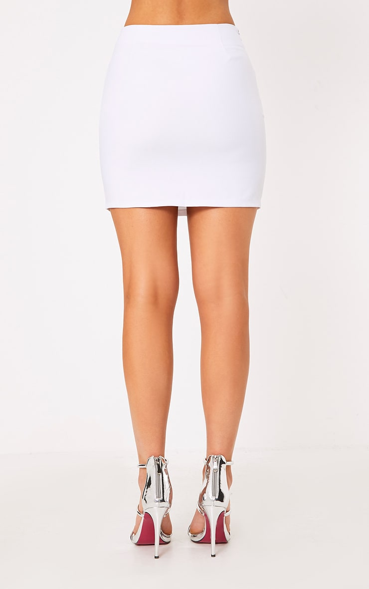Calista White Diamond Split Mini Skirt 5