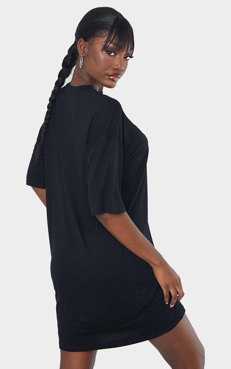 Tall - Robe tee-shirt noire oversize 3