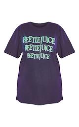 Plus Black Beetlejuice Oversized T Shirt 5