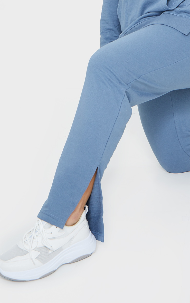 Plus Dusty Blue Split Hem Joggers 4