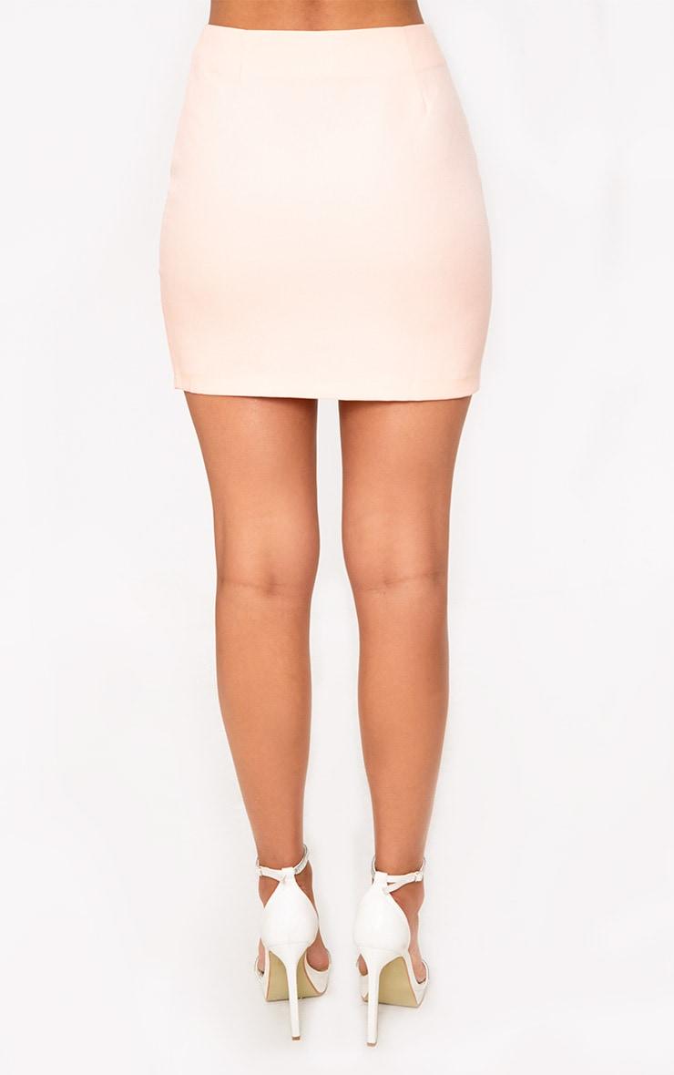 Nude Diamond Split Mini Skirt 3