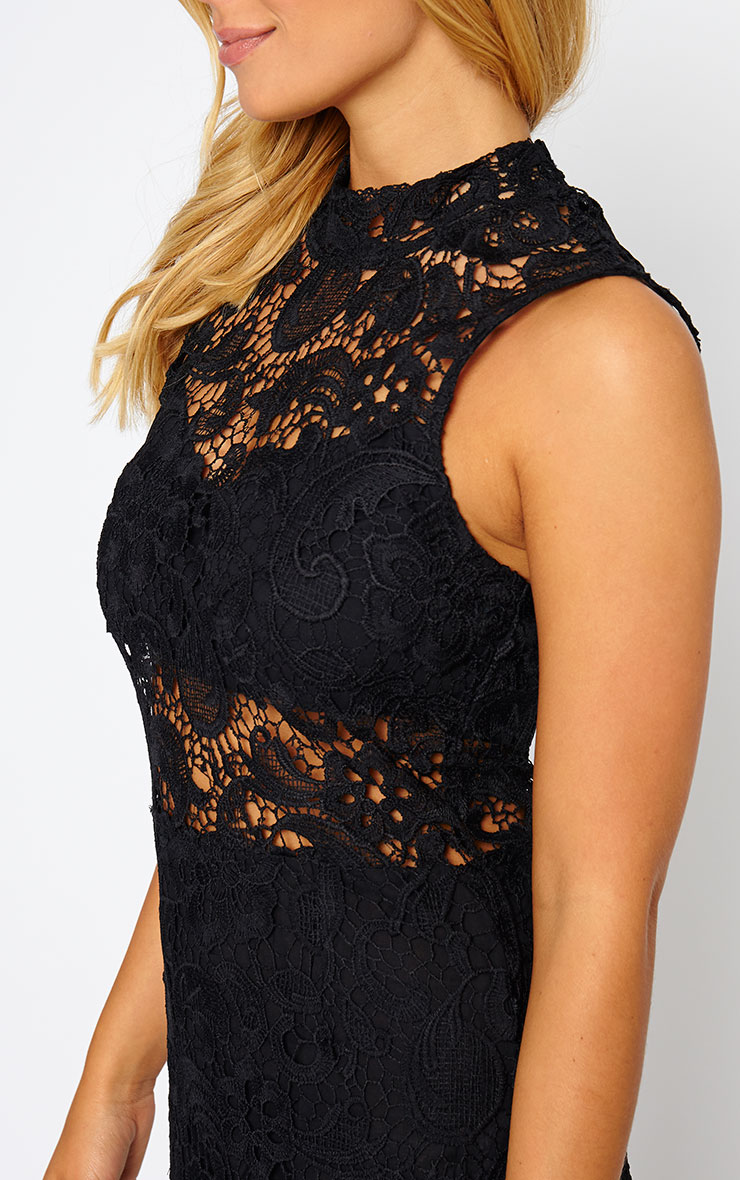 Lena Black Lace Midi Dress 5