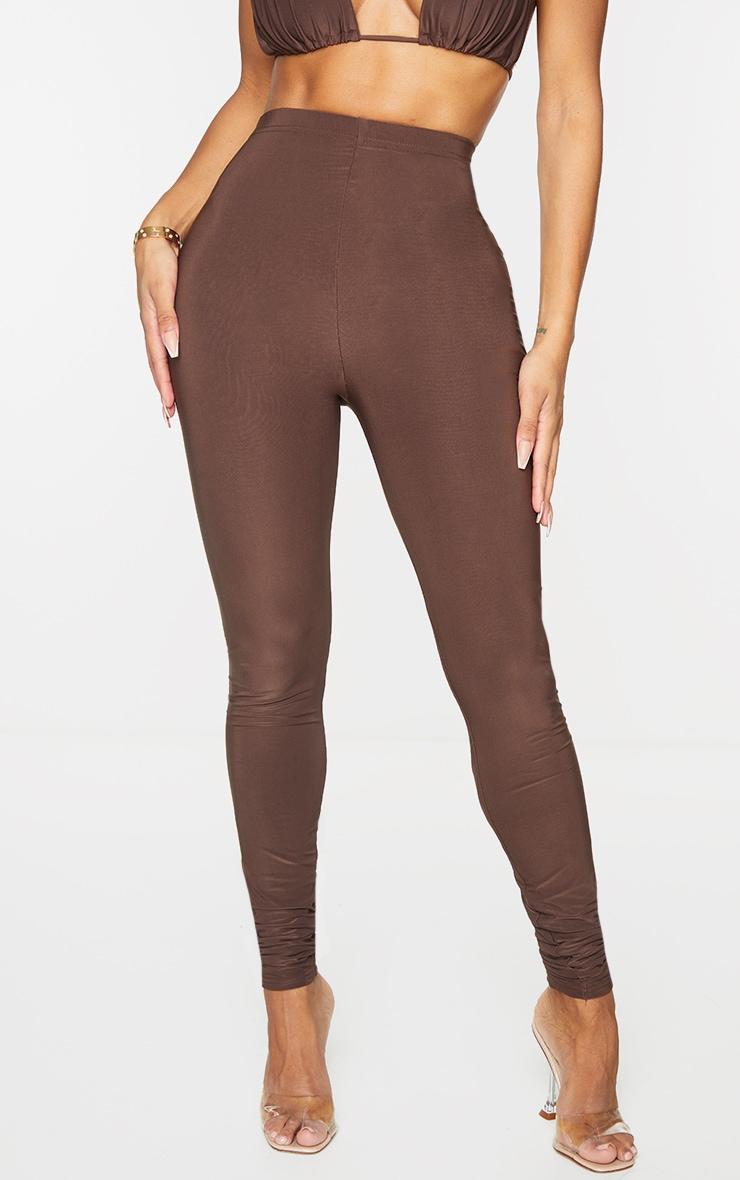 Shape Brown High Waist Slinky Leggings 2