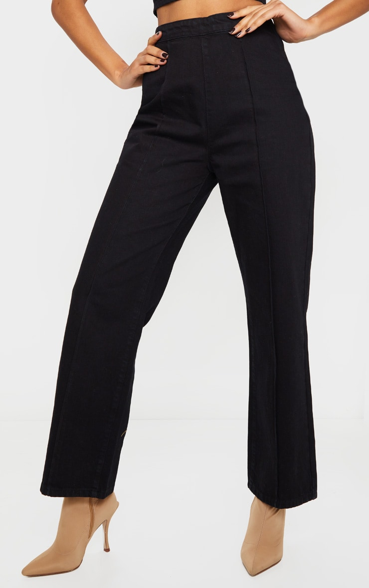 Washed Black Wide Leg Jeans 2