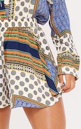 Multi Chain Print High Waist Floaty Shorts 5